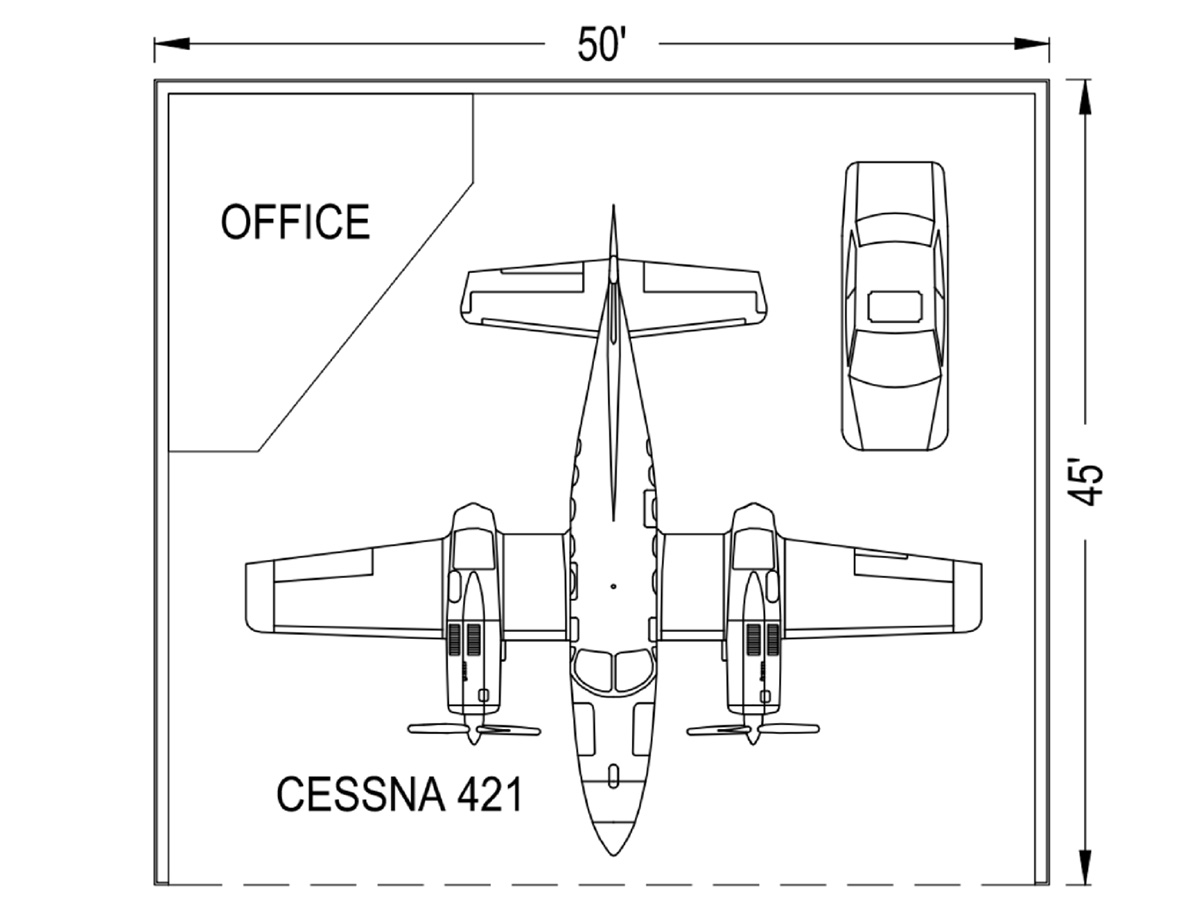 Standard Hangar 50' X 45' - Coast Air Center