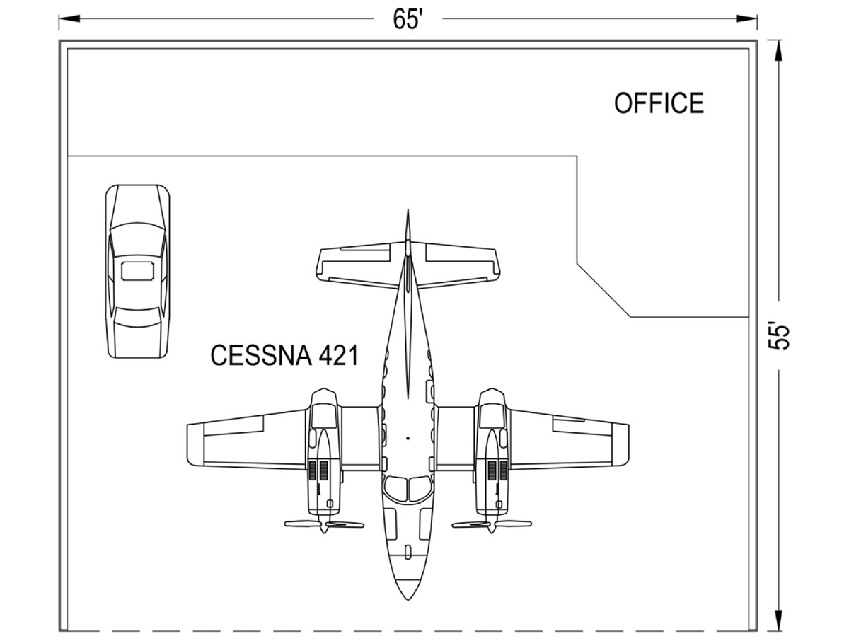 Large Hangar 65' X 55' - Coast Air Center